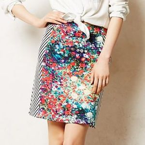 Anthropologie Tabitha Meadow Lined Pencil Skirt